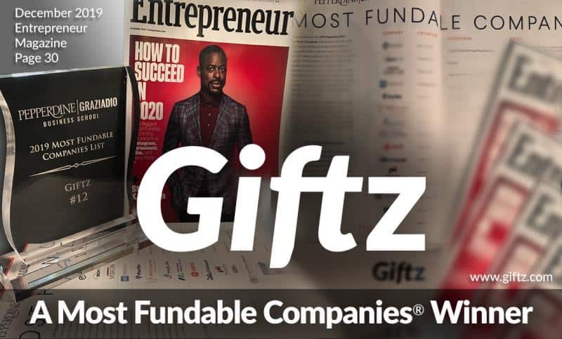 Giftz wins best company