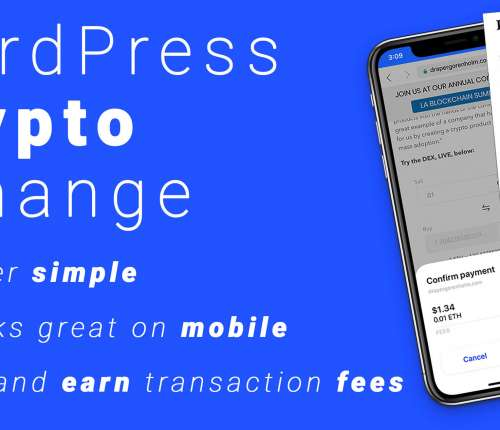 Cryptocurrency Exchange Wordpress plugin